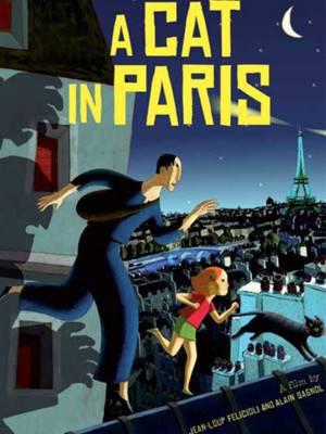 گربه ای در پاریس