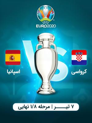 کرواسی : اسپانیا (یورو 2020)